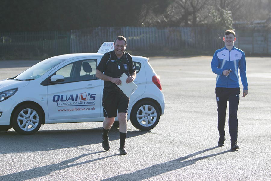 Video - Watch Tranmere Rovers winger Ben Tollitt take his mock driving test