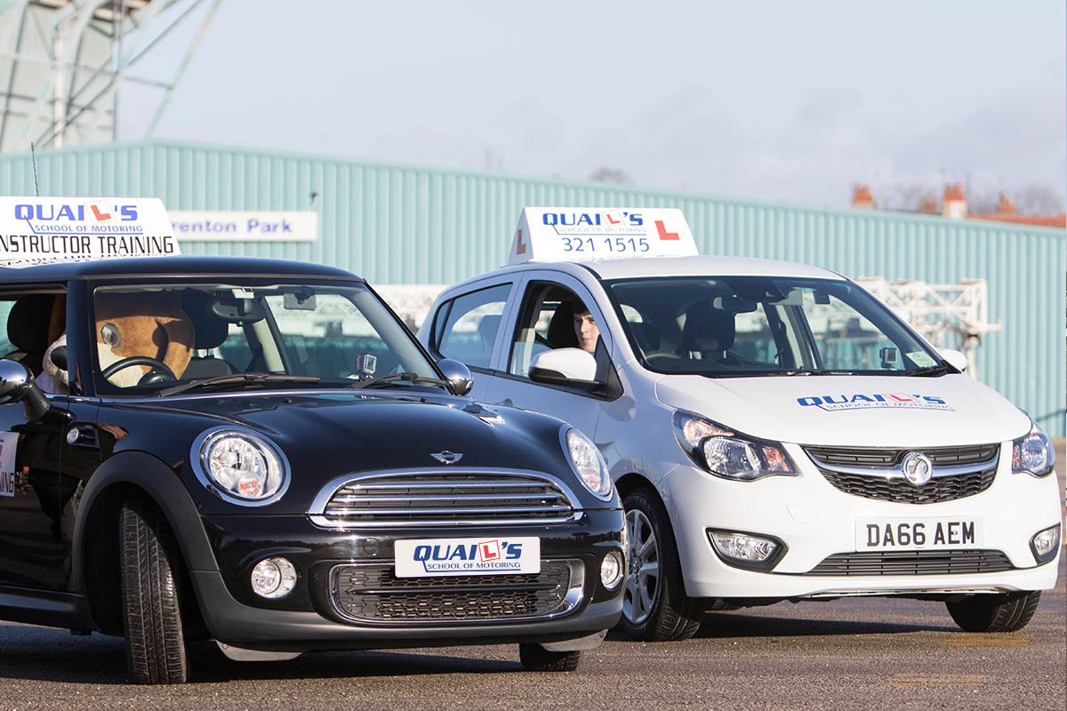 The Driving school cars at Tranmere Rovers Football Club