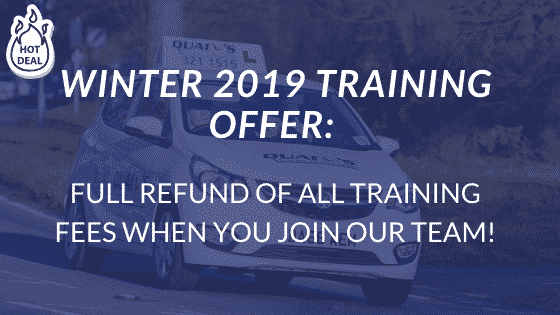 WINTER 2019 DRIVING INSTRUCTOR TRAINING OFFER