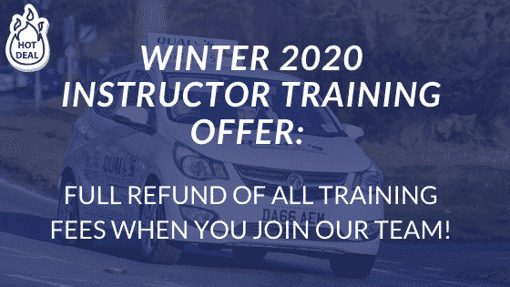 Winter 2020 DRIVER INSTRUCTOR TRAINING OFFER_