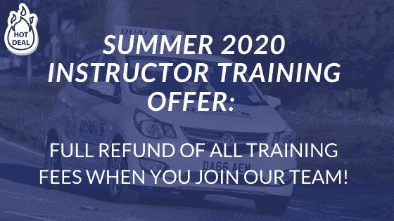 Summer 2020 DRIVER INSTRUCTOR TRAINING OFFER_